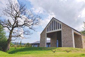 Oak chapel and sculptures