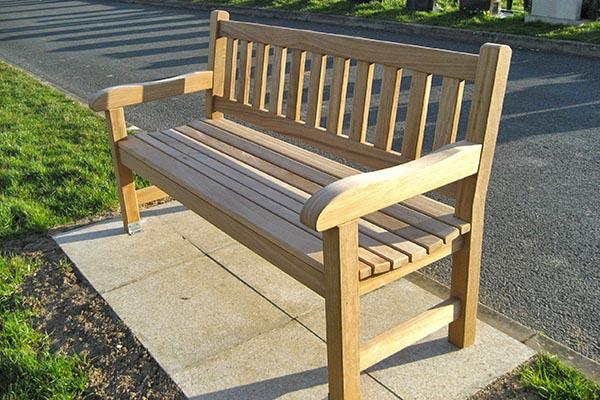 Memorial bench example