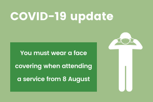 Wear a face cover at funeral services from 8 August