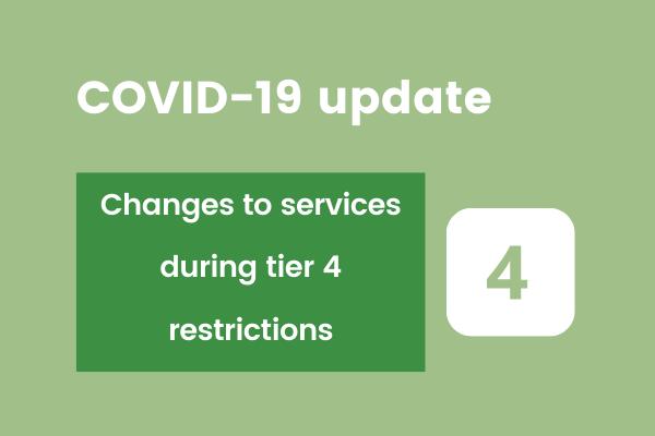 tier four restriction changes