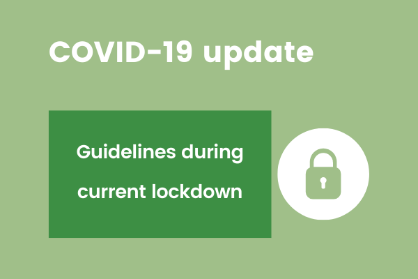 Covid update image for current lockdown